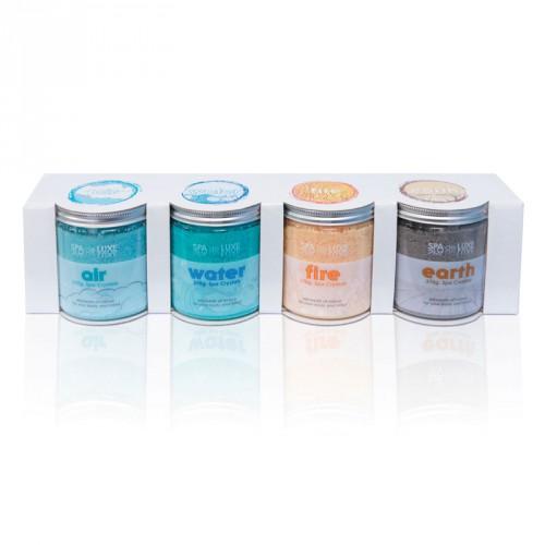 cristaux parfumés d'aromathérapie pour spa
