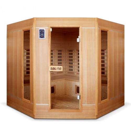 sauna infrarouge 4 à 5 places ethis grande