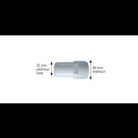 "Adaptateur tuyauterie plastique 1""1/2MIP 38mm lisse - Hydro Air International"