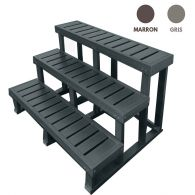 Escalier extra large - 3 marches - 120 cm de long