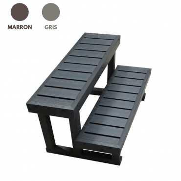 Escalier pour spa - 2 marches - 90 cm de long